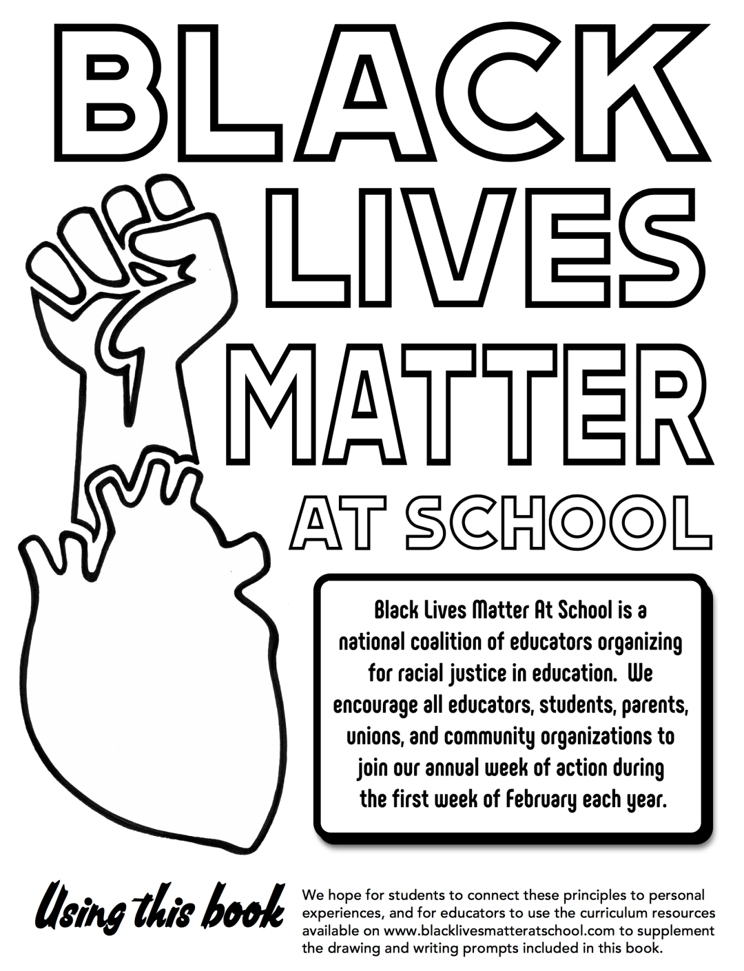 The black lives matter at school coloring book make this years week of action beautiful black lives matter at school